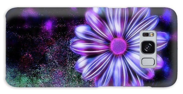 Abstract Glowing Purple And Blue Flower Galaxy Case