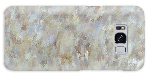Galaxy Case featuring the mixed media Abstract Gold Cream Beige 6 by Clare Bambers