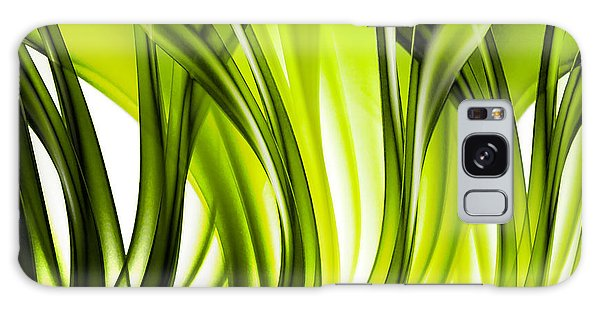 Abstract Green Grass Look Galaxy Case