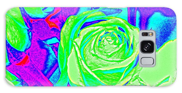 Abstract Green Roses Galaxy Case