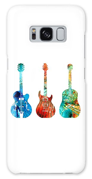 Music Galaxy S8 Case - Abstract Guitars By Sharon Cummings by Sharon Cummings