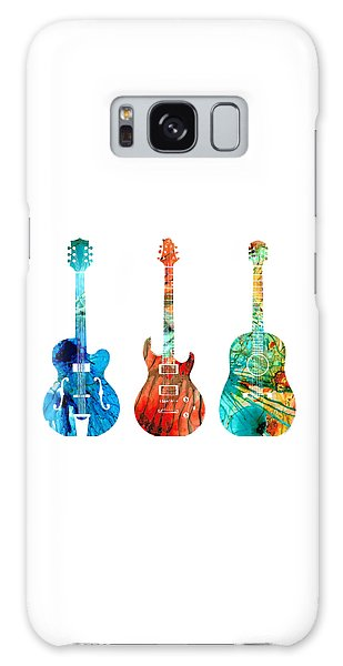 Music Galaxy Case - Abstract Guitars By Sharon Cummings by Sharon Cummings