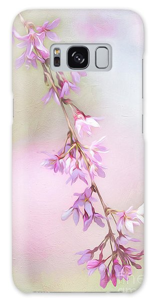 Abstract Higan Chery Blossom Branch Galaxy Case
