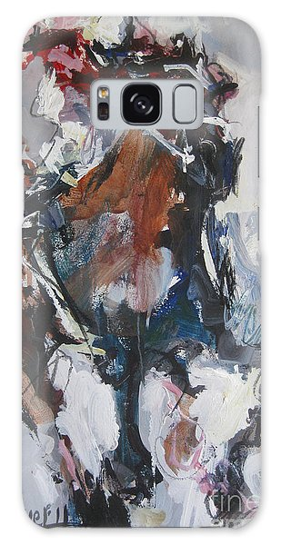 Abstract Horse Racing Painting Galaxy Case by Robert Joyner