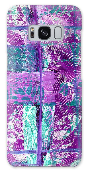 Abstract In Purple And Teal Galaxy Case