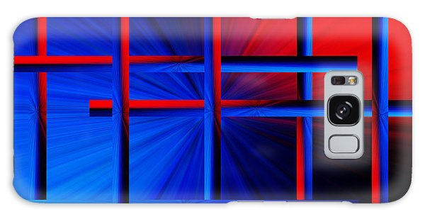 Abstract In Red/blue 3 Galaxy Case