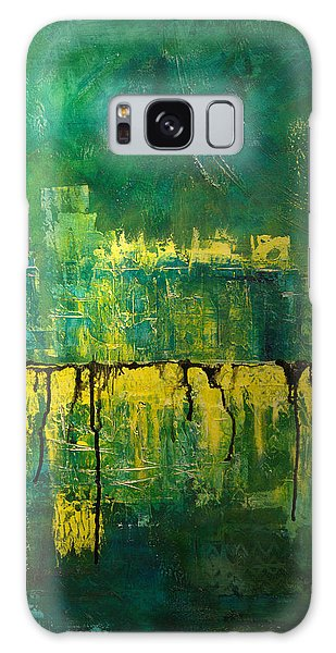 Abstract In Yellow And Green Galaxy Case