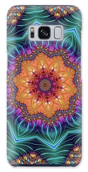 Galaxy Case featuring the digital art Abstract Kaleidoscope Art With Wonderful Colors by Matthias Hauser