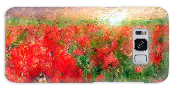 Abstract Landscape Of Red Poppies Galaxy Case