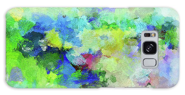 Abstract Landscape Painting Galaxy Case by Ayse Deniz