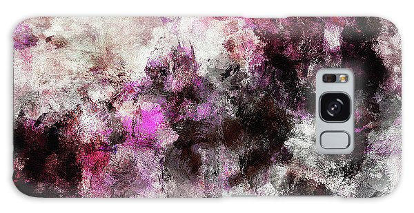 Abstract Landscape Painting In Purple And Pink Tones Galaxy Case by Ayse Deniz