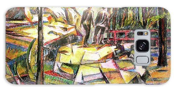 Abstract Landscape With People Galaxy Case