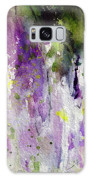 Abstract Lavender Cascades Galaxy Case by Ginette Callaway