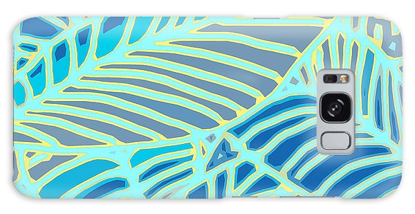 Abstract Leaves Blue And Aqua Galaxy Case