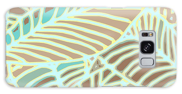Abstract Leaves Coffee And Aqua Galaxy Case