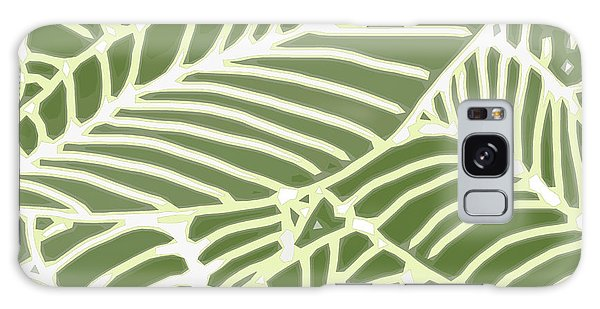 Abstract Leaves Fern Green Galaxy Case
