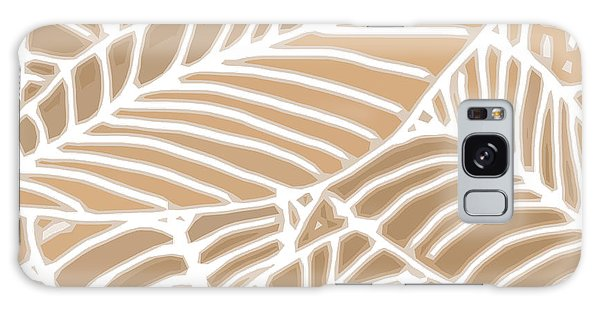 Abstract Leaves Iced Coffee Cutout Galaxy Case