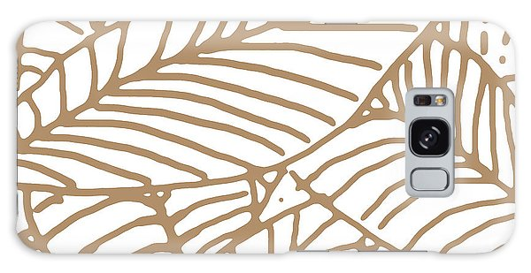 Abstract Leaves Iced Coffee Galaxy Case