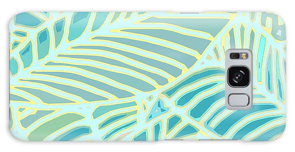 Abstract Leaves Teal And Aqua Galaxy Case