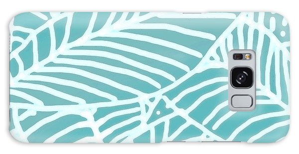Abstract Leaves Teal Batik Galaxy Case