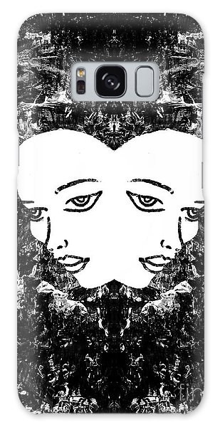 Galaxy Case featuring the painting Abstract Majestic Lady 41115  by Mas Art Studio