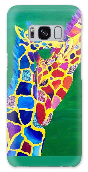 Abstract Mehndi Giraffe Mom And Baby Galaxy Case