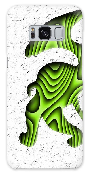 Abstract Monster Cut-out Series - Green Stroll Galaxy Case