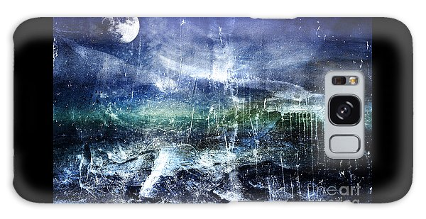 Abstract Moonlit Seascape Painting 36a Galaxy Case