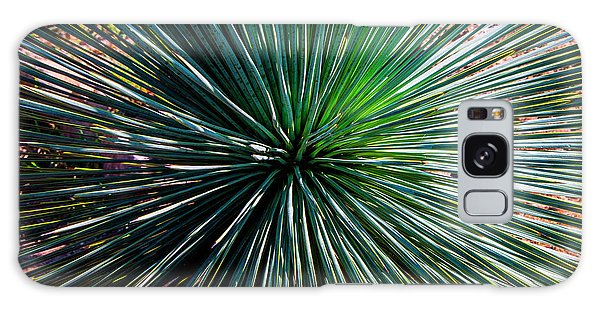 Abstract Nature Desert Cactus Photo 207 Blue Green Galaxy Case