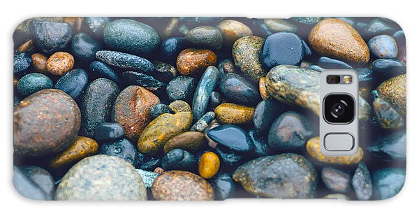 Abstract Nature Tropical Beach Pebbles 923 Blue Galaxy Case