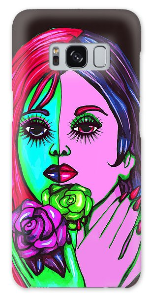 Abstract Neon Rose Fairy Galaxy Case