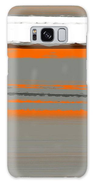 Contemporary Galaxy Case - Abstract Orange 2 by Naxart Studio