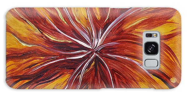 Abstract Orange Flower Galaxy Case