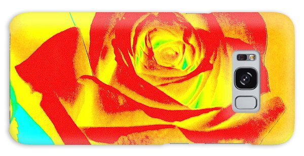 Single Orange Rose Abstract Galaxy Case