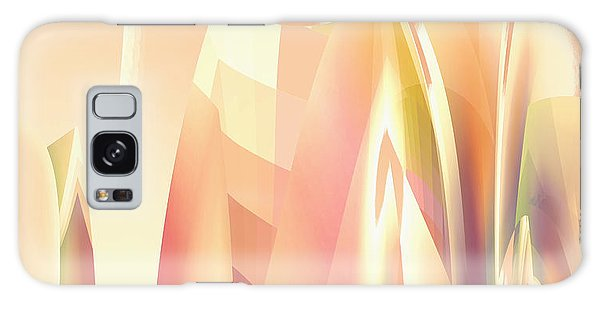 Galaxy Case featuring the digital art Abstract Orange Yellow by Robert G Kernodle