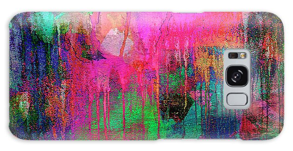Abstract Painting 621 Pink Green Orange Blue Galaxy Case
