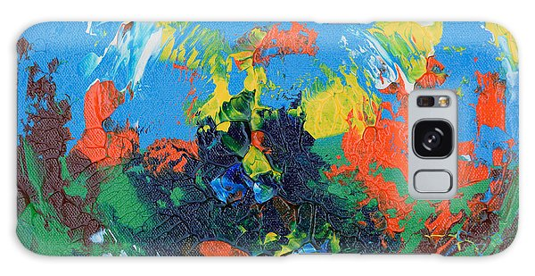 Galaxy Case featuring the painting Abstract Painting R1115a by Mas Art Studio