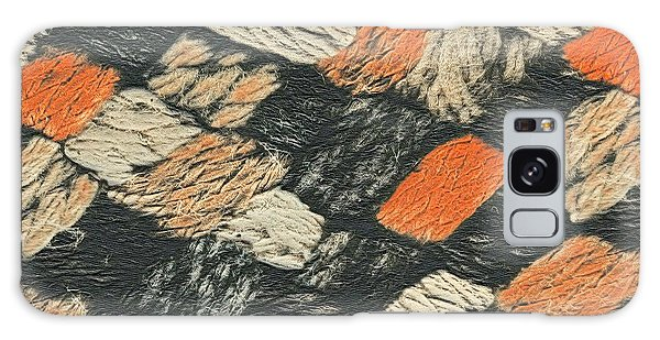 Abstract Pattern Black And Orange Galaxy Case