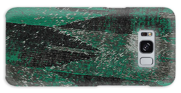 Abstract Pattern No.11 Green And Black Galaxy Case