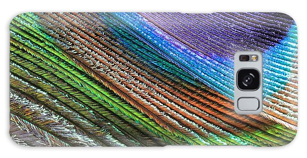 Abstract Peacock Feather Galaxy Case