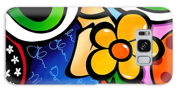 Abstract Pop Art Original Painting Scratch N Sniff By Fidostudio Galaxy Case