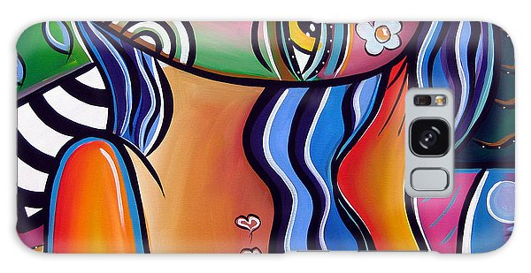 Abstract Pop Art Original Painting Shabby Chic Galaxy Case