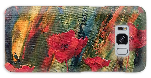 Abstract Poppies Galaxy Case by Kristine Bogdanovich