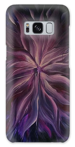Abstract Purple Flower Galaxy Case