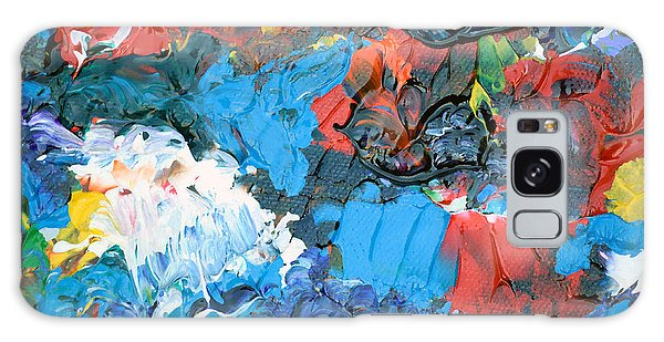 Galaxy Case featuring the painting Abstract Q1112a  by Mas Art Studio