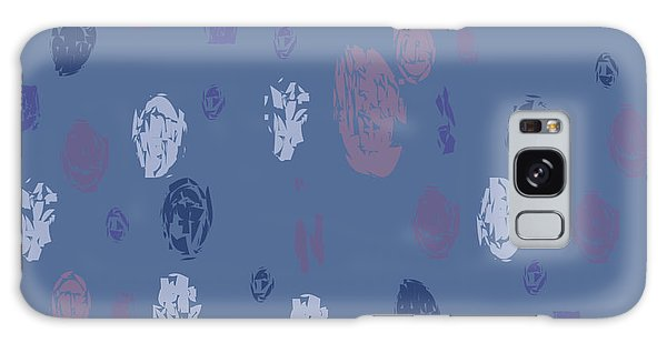 Abstract Rain On Blue Galaxy Case