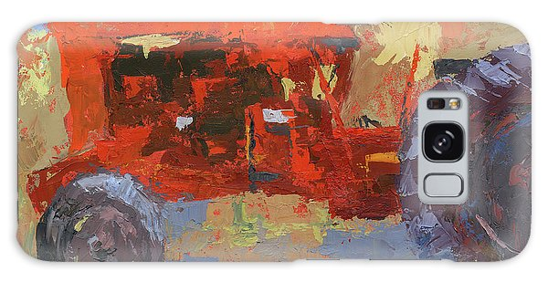 Abstract Red Tractor Galaxy Case