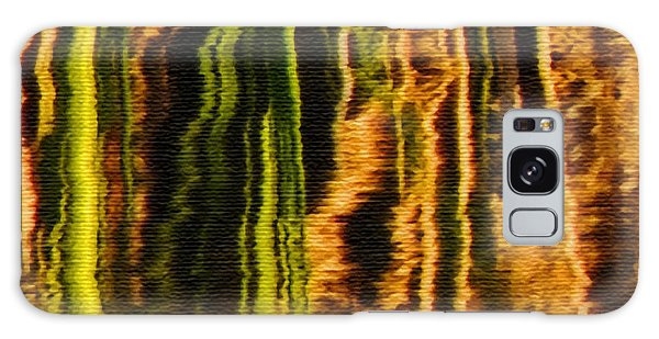 Abstract Reeds Triptych Middle Galaxy Case
