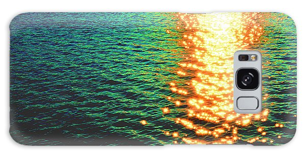 Abstract Reflections Digital Painting #5 - Delaware River Series Galaxy Case
