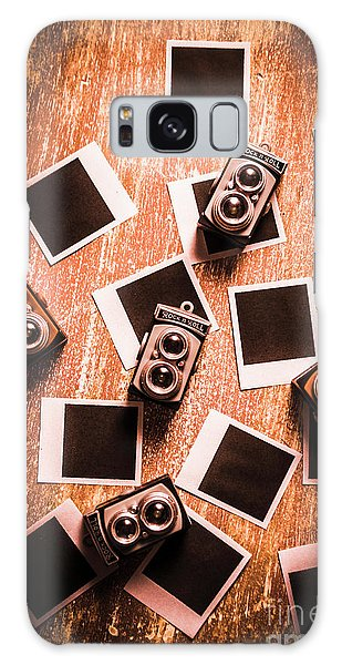 Famous Artist Galaxy Case - Abstract Retro Camera Background by Jorgo Photography - Wall Art Gallery